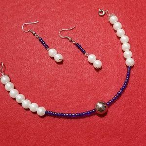 Handmade by me bracelet and earrings set